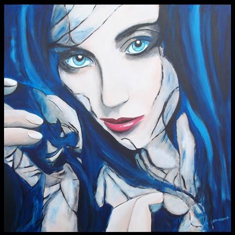 Nr.:457 Frau in Blau