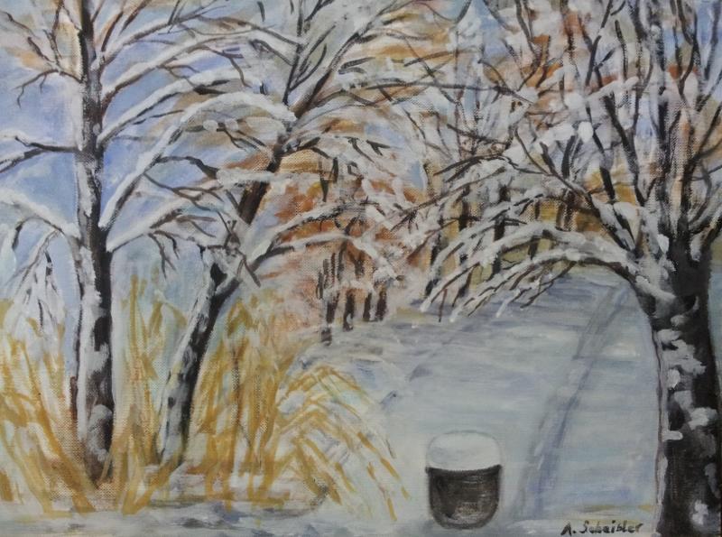 Winter auf Terrassien