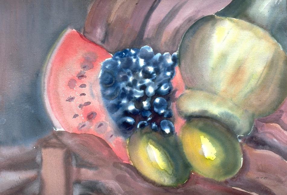 Melone mit Trauben 1
