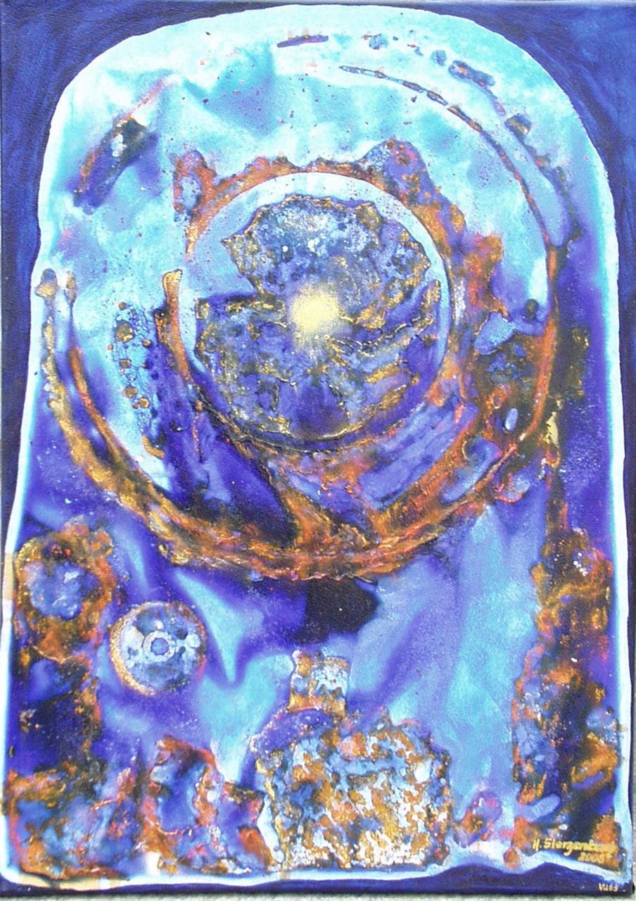 VU 69 Planet in blau
