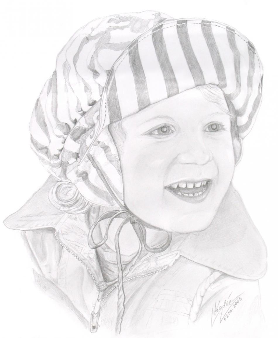 Alyssa mit Mütze (2005) Zeichnung KVN 298