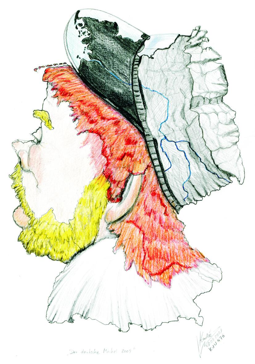 Der deutsche Michel (2009) Zeichnung KVN 476