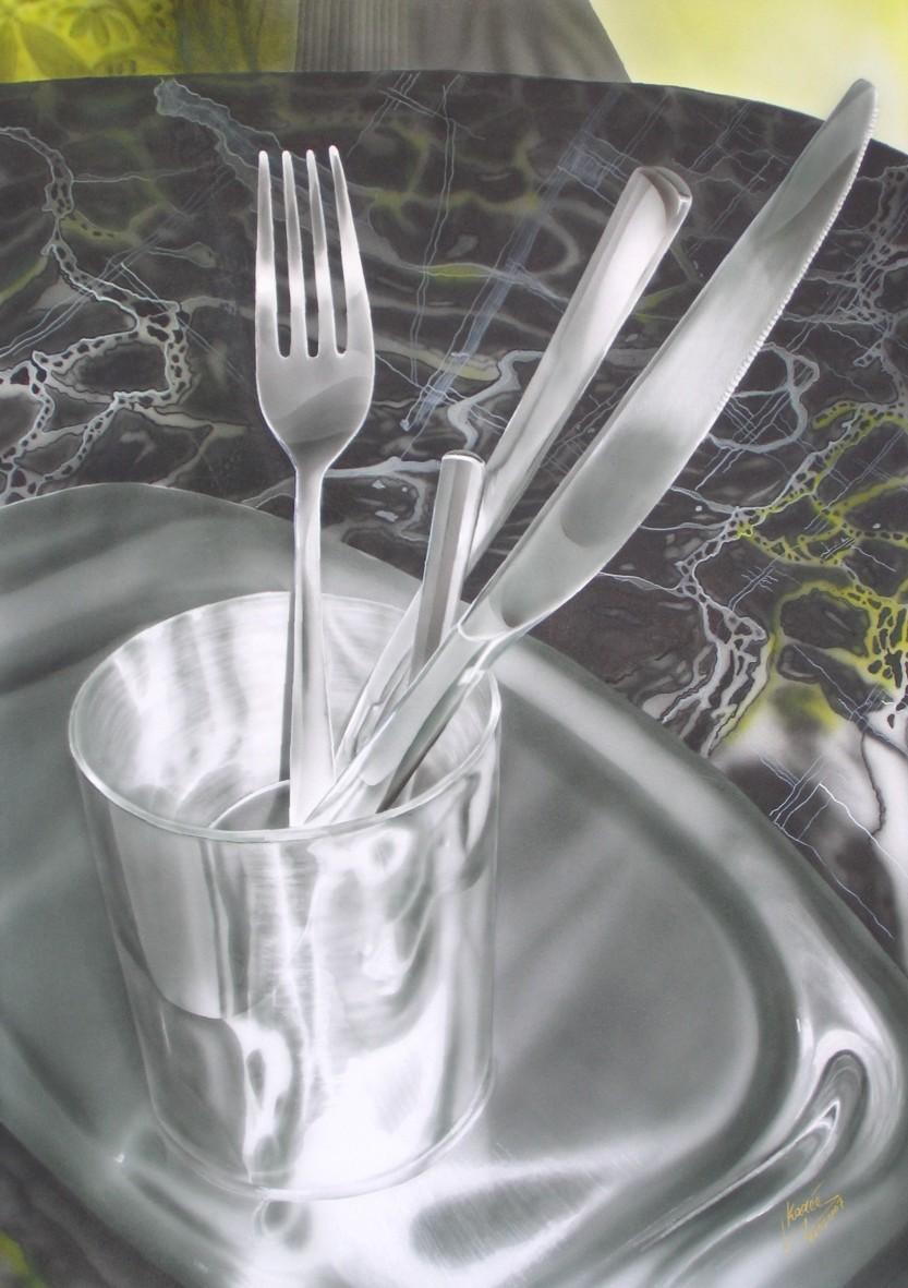 Chrom in Chrom (2007) Airbrush-Mischtechnik KVN 377