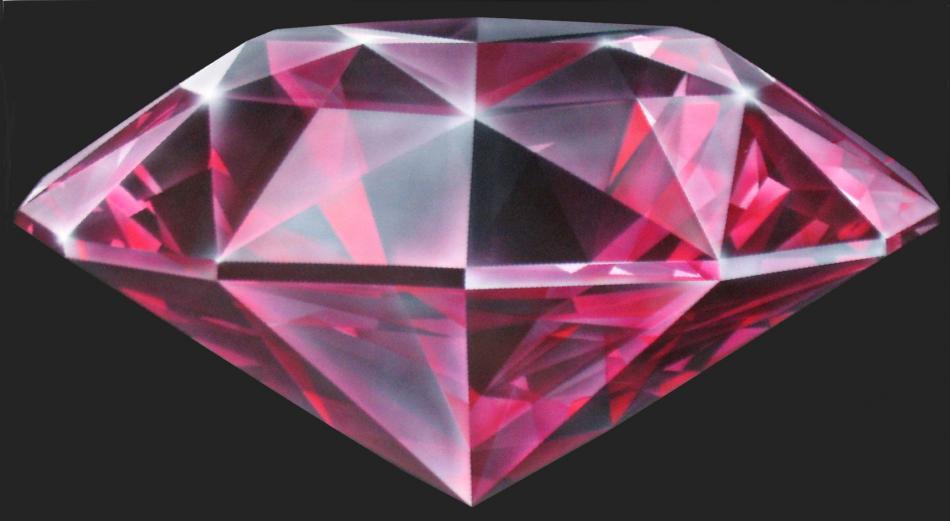 Red Diamond (2012) Airbrush / Teil einer Fahrzeugbemalung KVN 645
