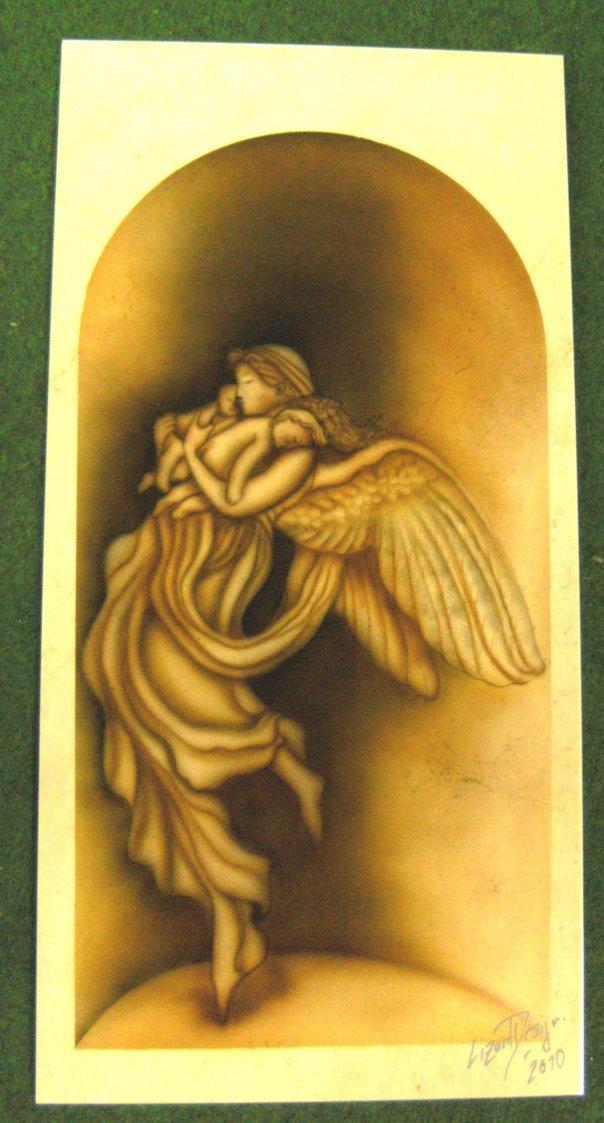Beschützender Engel on Marmor