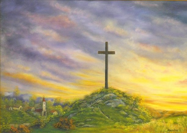 Kreuz auf dem Hügel