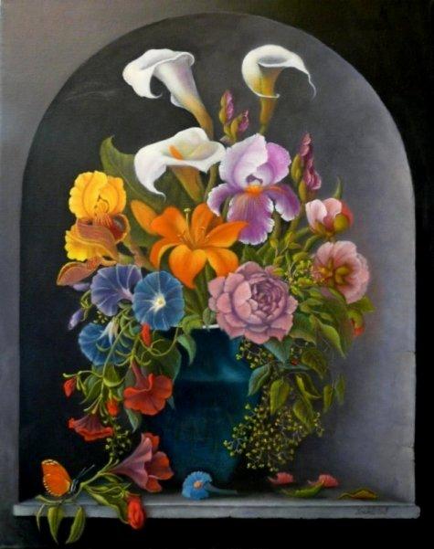 Blumen mit Schmetterling
