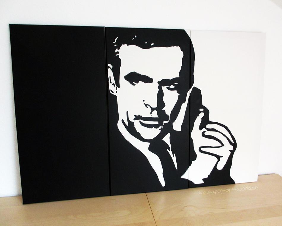 kunstwerk james bond pop art leinwand von luke bauer. Black Bedroom Furniture Sets. Home Design Ideas