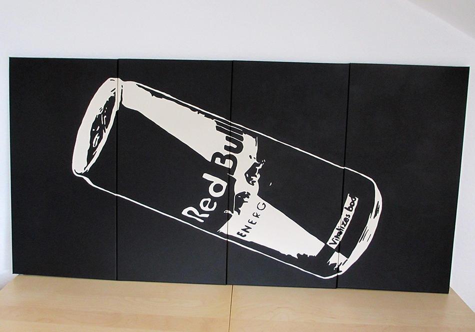 Red Bull - Pop Art - Kunstwerk