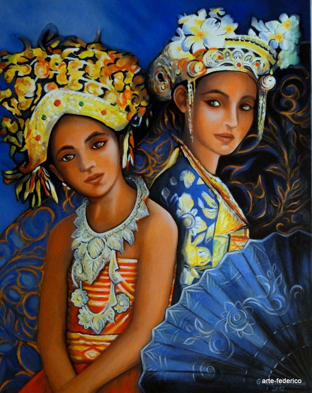 Die Tanzmädchen aus Bali