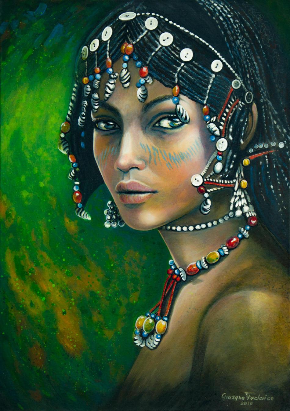 Die Frau aus Äthiopien