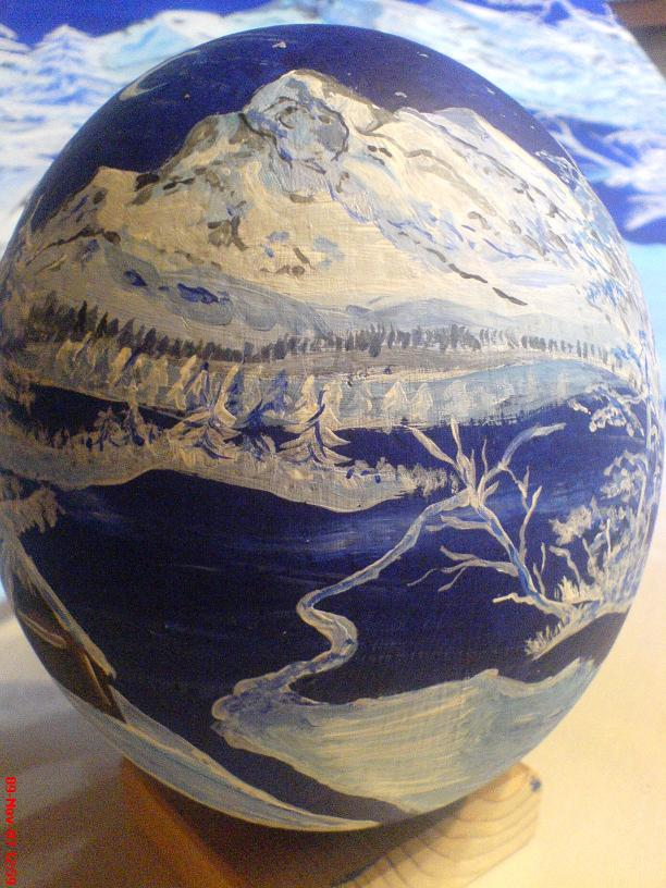 Abstrakte Landschaft in Blau
