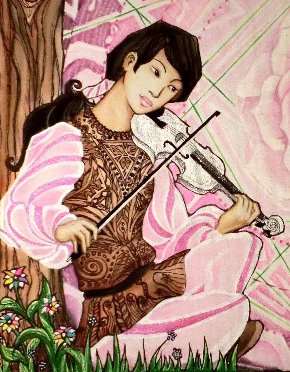 Violinspieler/in