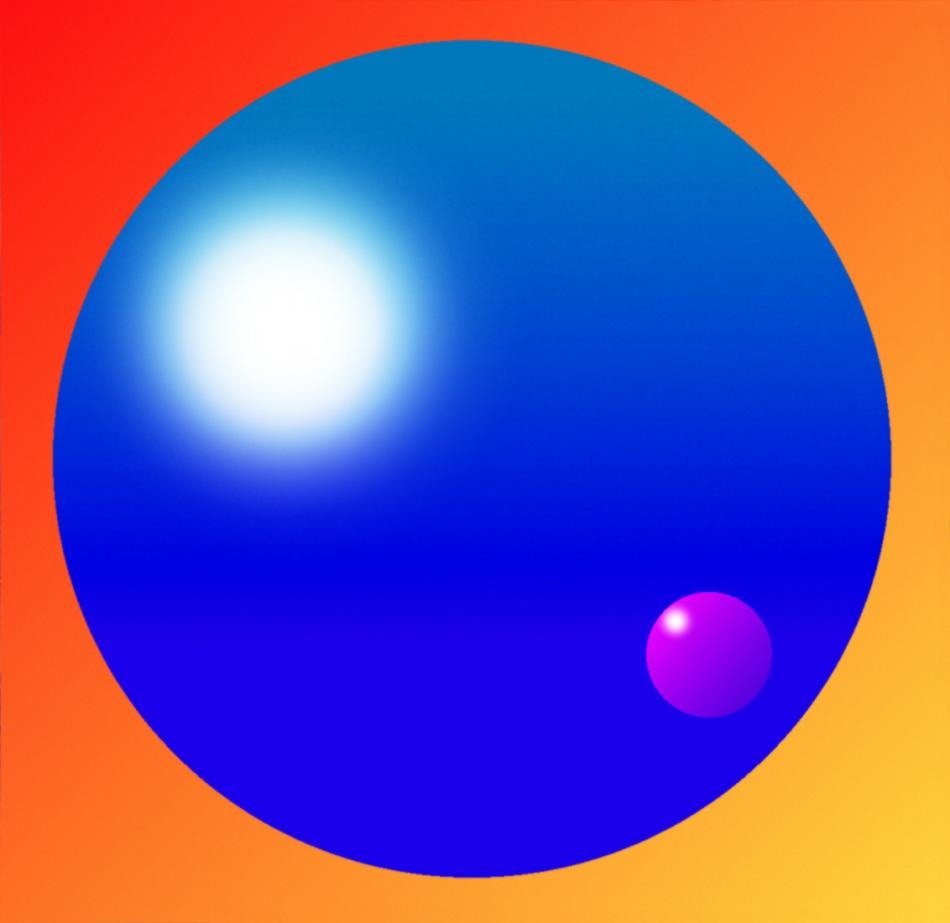 Blaue Kugel II