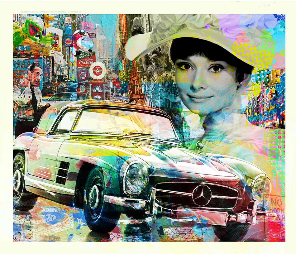 Audrey Hepburn - 300SL