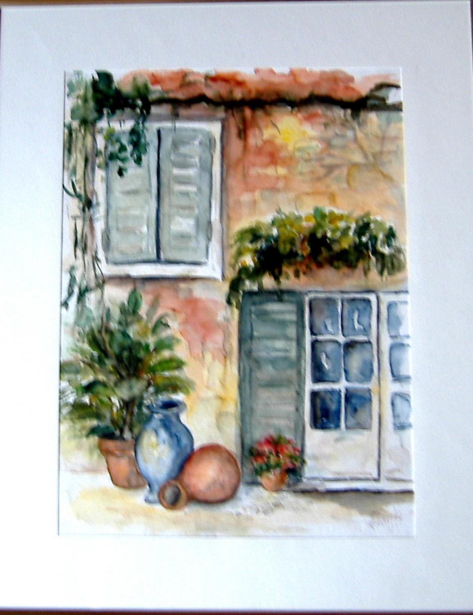 Südliche Fenster und Krüge
