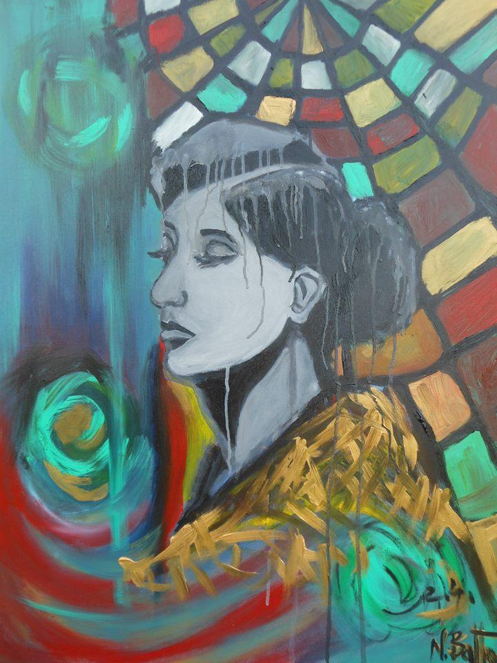 Eine Frau in einem Traum