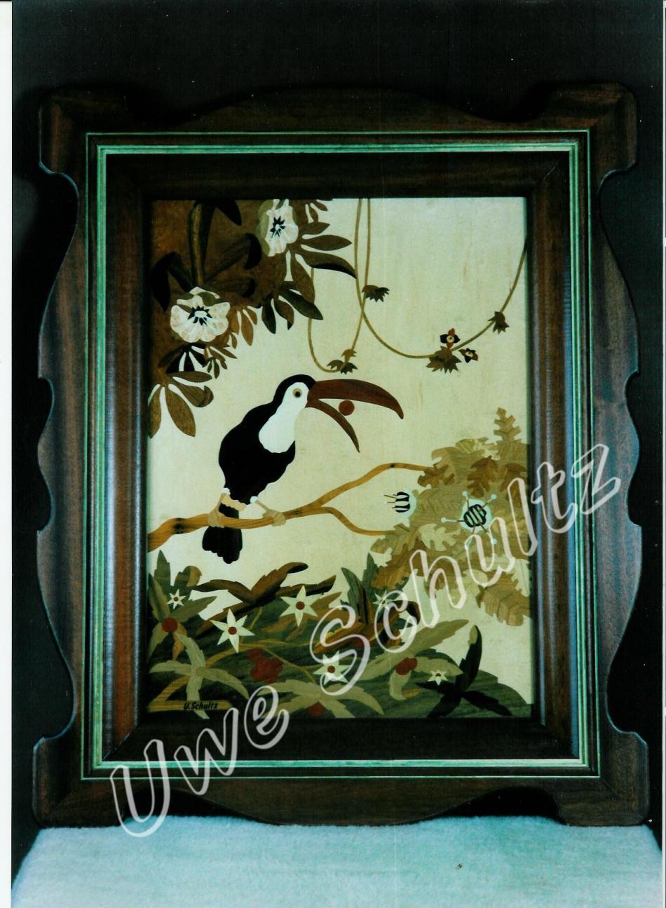 Tucan - Intarsienarbeit