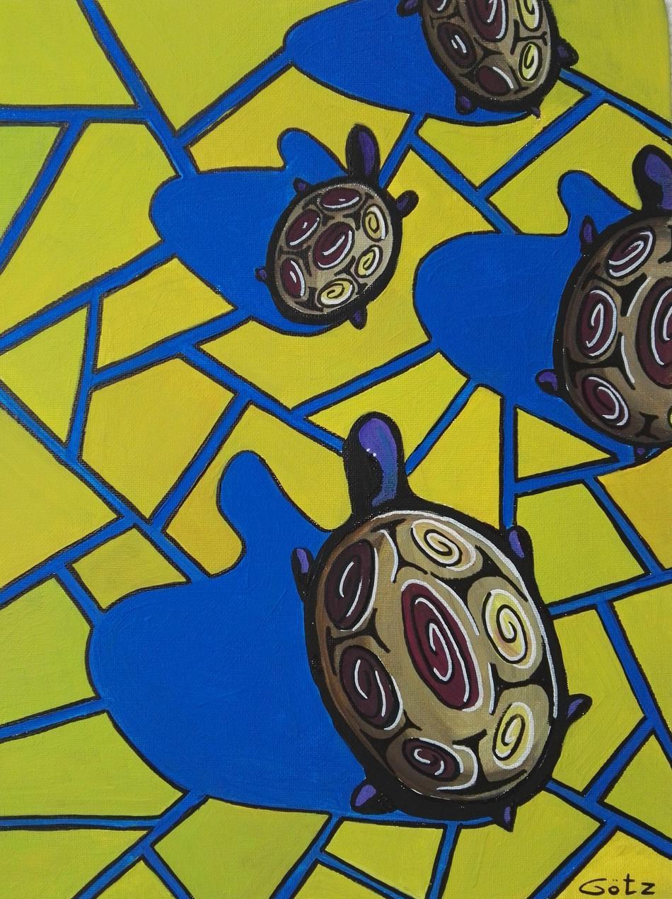 Schildkröten in der Wüste