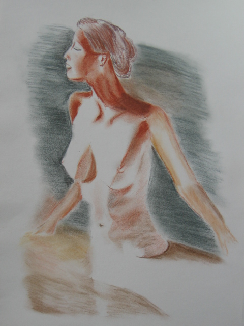 Frau beim Bad
