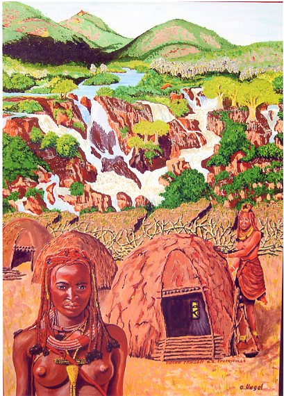 Himba Frauen an d. Epupa-Fall/Namibia