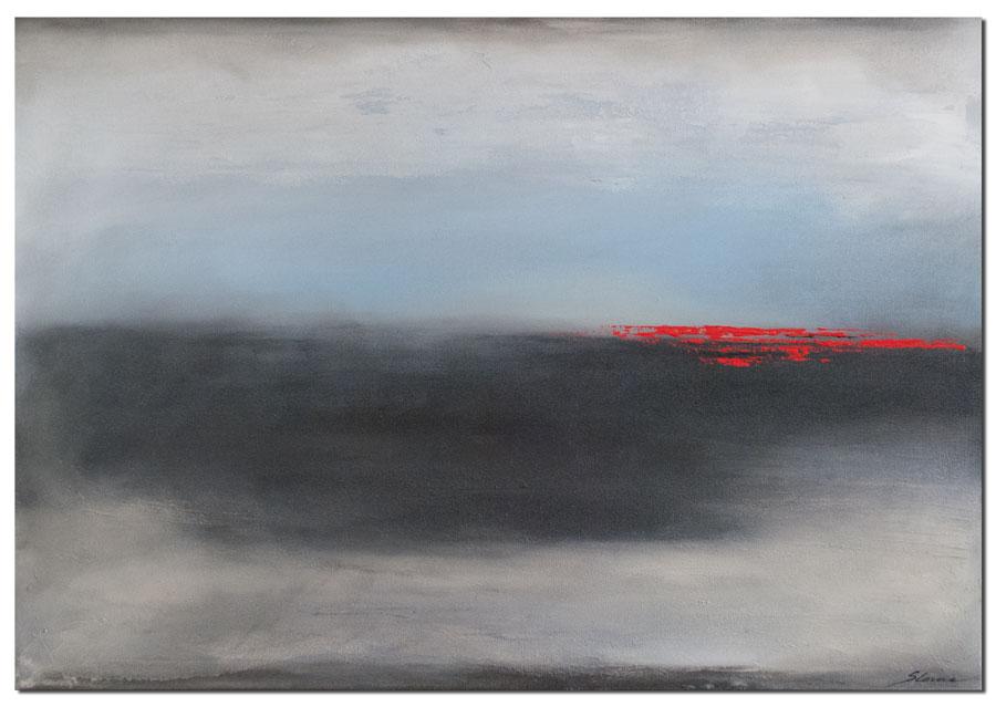Wandbild Dark Night abstraktes Wandbild