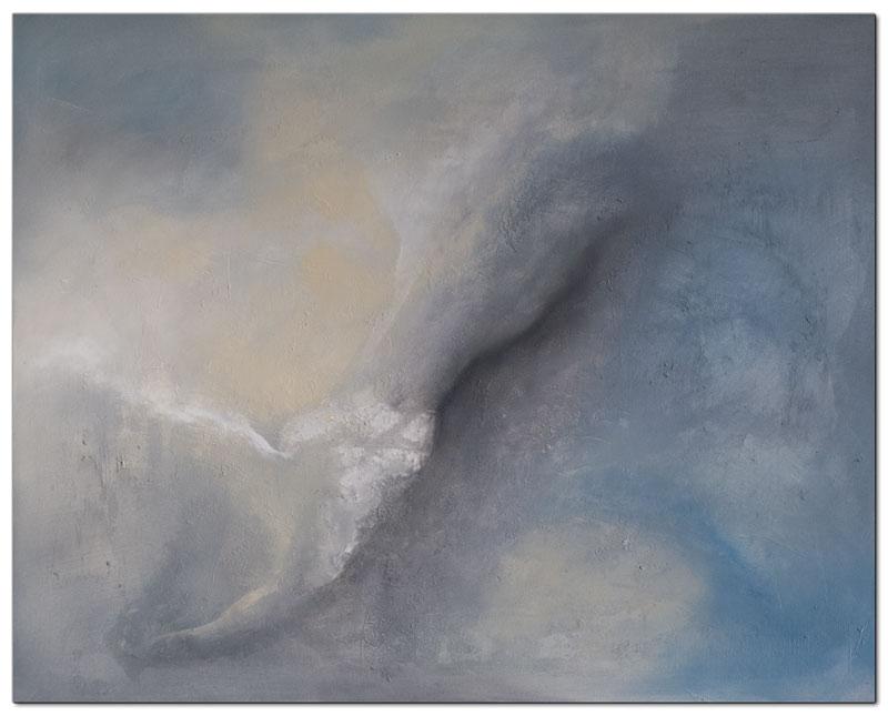 Wandbild abstrakt Sky Acryl Struktur