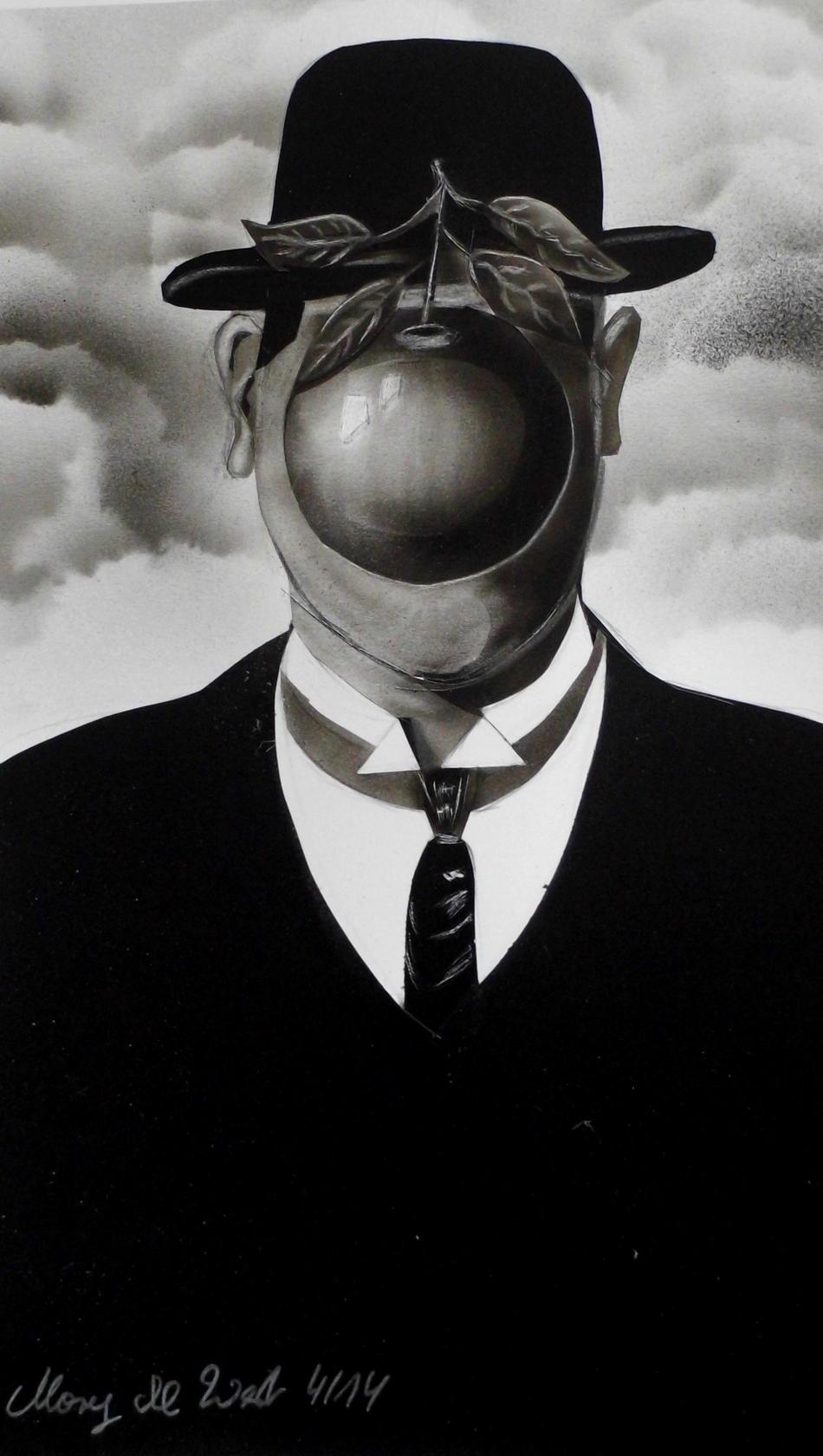 Apfel nach Magritte