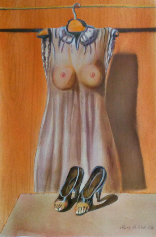 Schuhe und Kleid (nach Magritte)