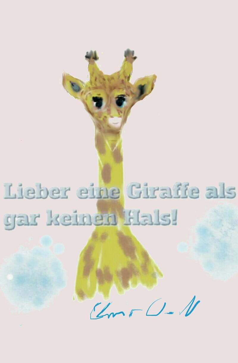 Giraffe ist stolz auf ihren Hals