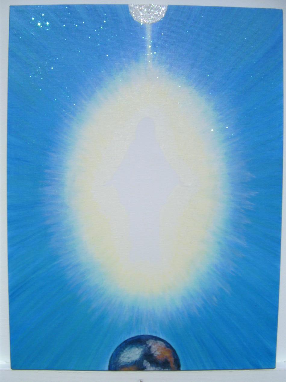eisblauer Kristalläther von Mutter Maria