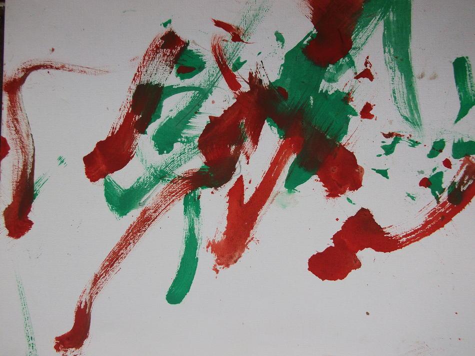 Bild der Eselin Levina rot-grün