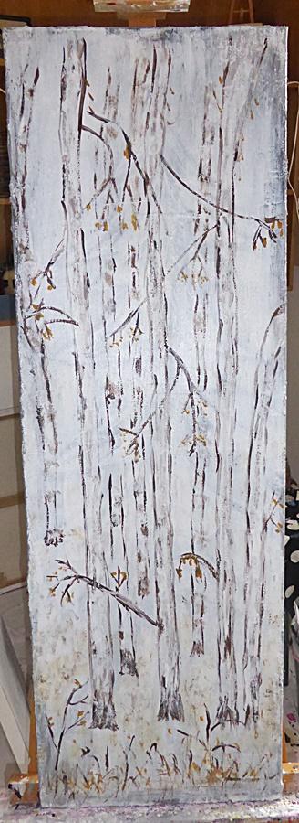 winterlicher Birkenwald