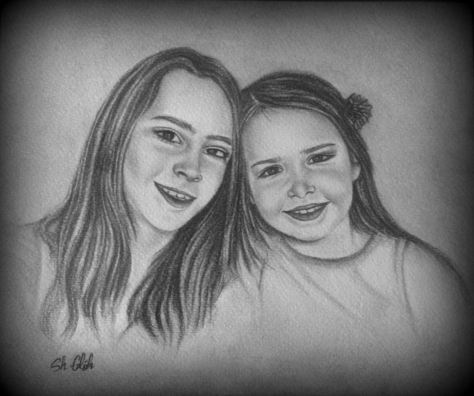 Portrait von zwei Schwestern