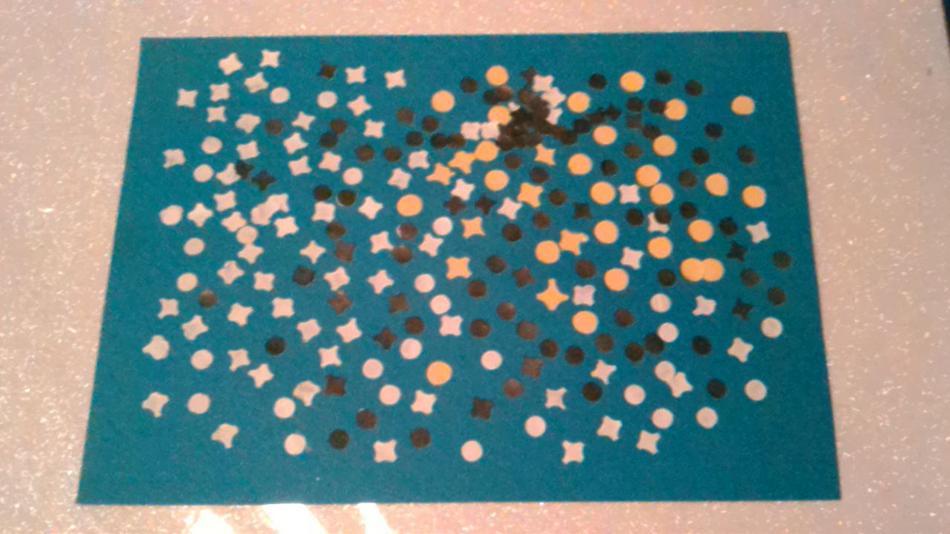 Confettibild Aquablue