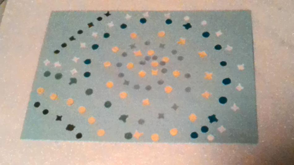 Confettibild Hellblau Spiral