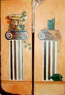 Säulen: Flasche & Topf
