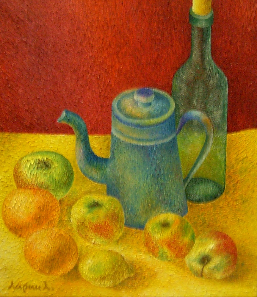 Äpfel auf Gelb