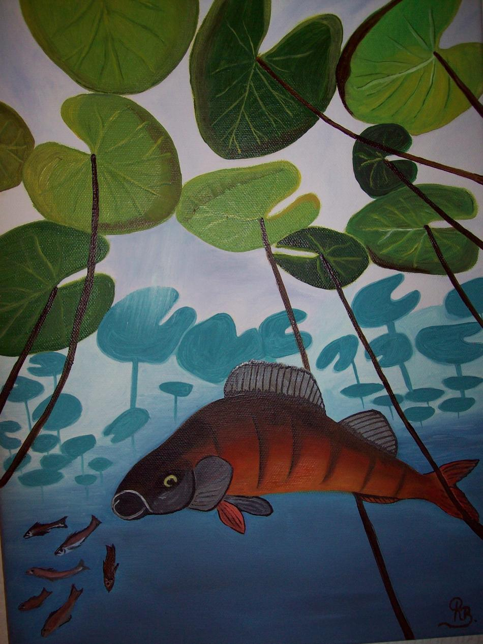 Fisch unter Wasser  30x40