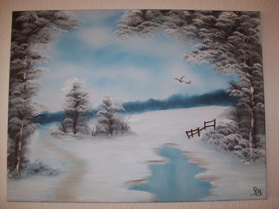 Schneelandschaft  60x45