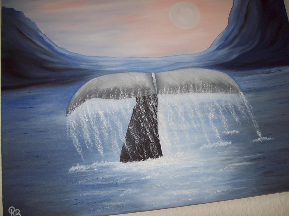 Wal taucht unter   50x40