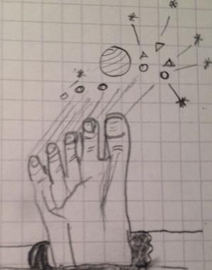 Fuß unter den Sternen