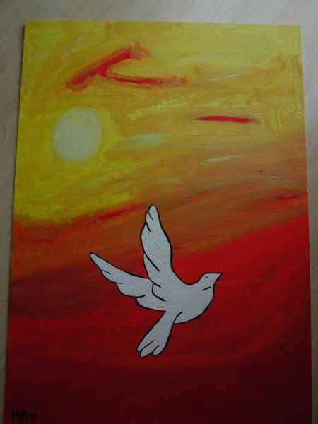 Friede im Sonnenuntergang