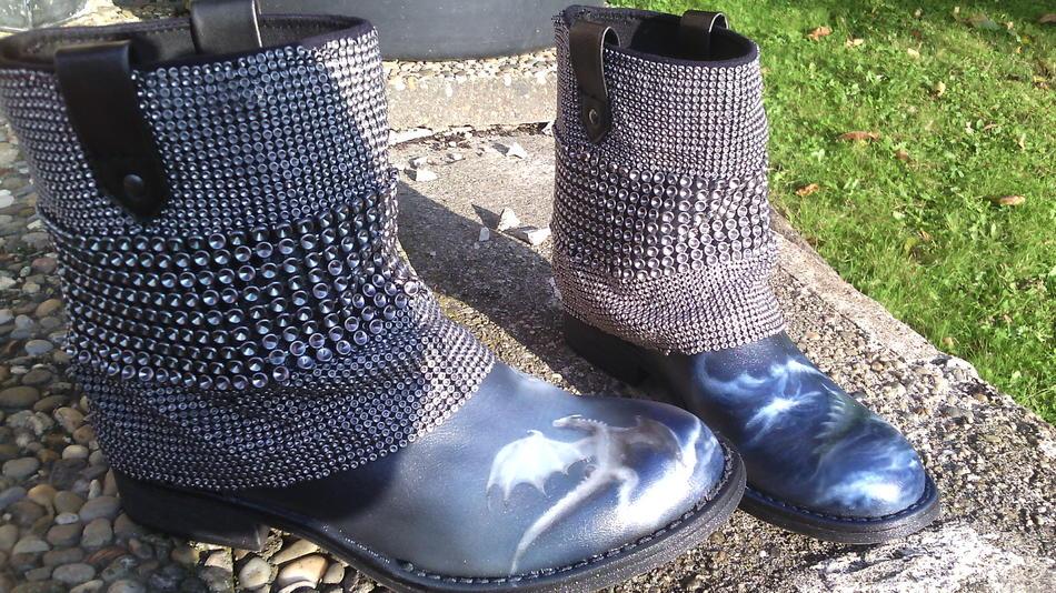 Schuhe Drachen