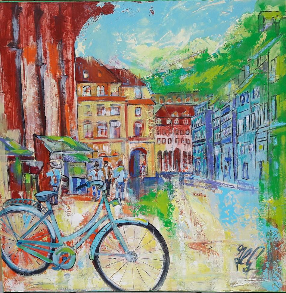 Heidelberg-Auf dem Weg zum Rathaus