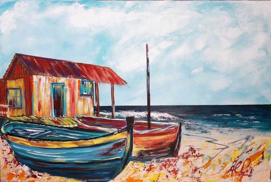 Fischerhütte am Strand