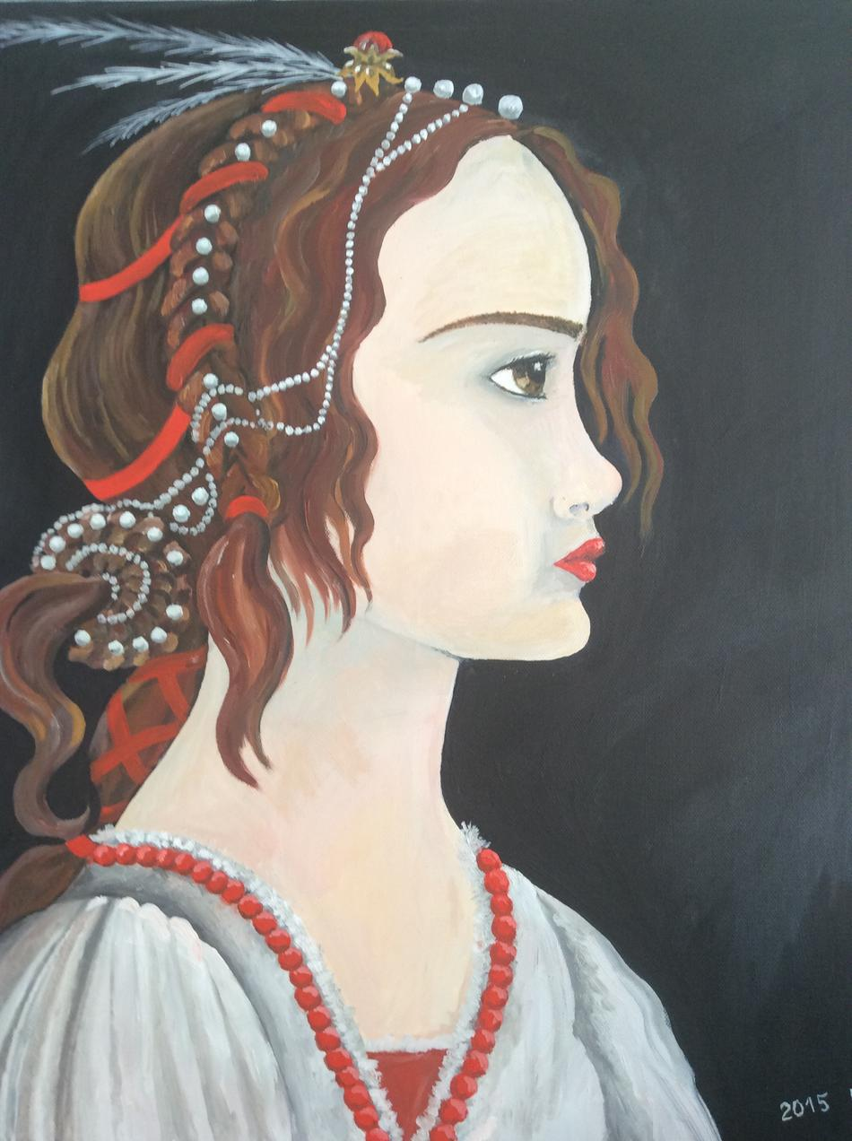 Portret junger Dame