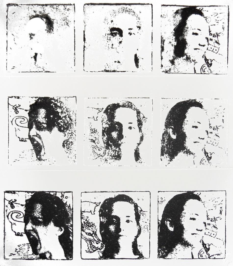 Drei Gesichter verblassend