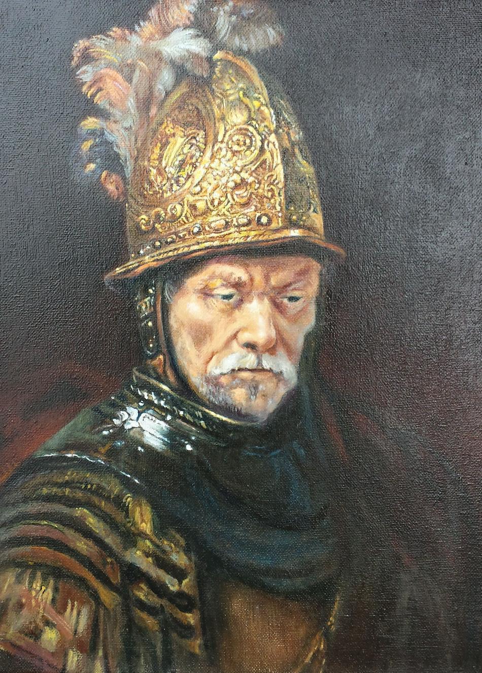 Kunstwerk Kopie Von Umkreis Rembrandt Der Mann Mit Dem Goldhelm Von