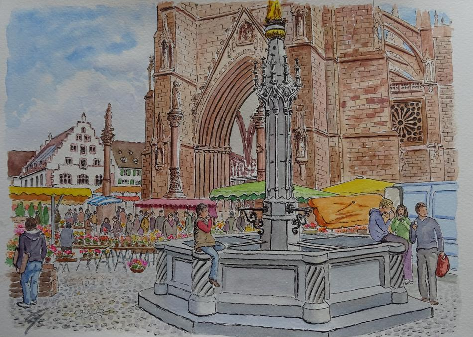 Brunnen am Münster